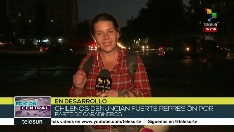Chilenos denuncian fuerte represión por parte de carabineros