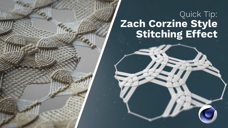 C4D Quick Tip Easily Create this Complex Stitching Effect in Cinema 4D Greyscalegorilla Plus