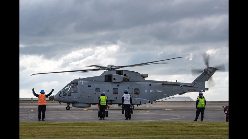 Royal Navy Pilot prepares to support NHS