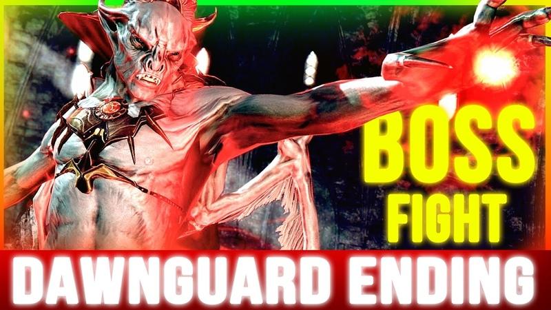 Skyrim Dawnguard ENDING (Final 2 BOSS Battles Walkthrough Part 4)