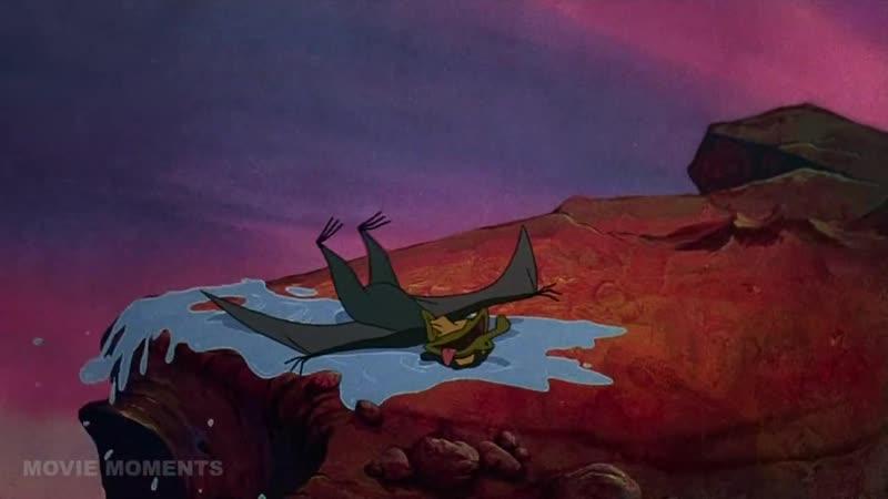 Земля до начала времён 1988 Питри спасает своих друзей от Острозуба