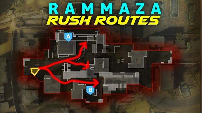 BEST Modern Warfare Search and Destroy Rush Routes on RAMMAZA! (MW SnD Tips)
