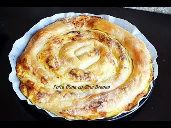 Placinta dobrogeana, strudel cu branza dulce sau sarata, mere sau dovleac | Gina Bradea