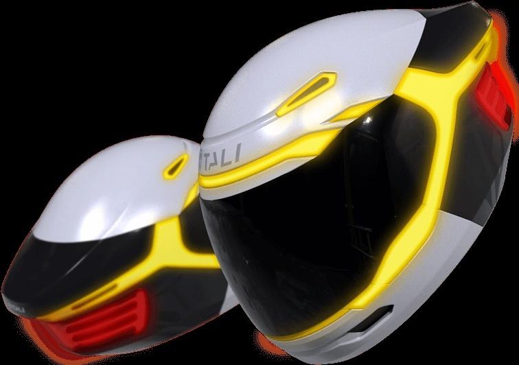 Концепт Tali Connected - умный шлем с оптикой