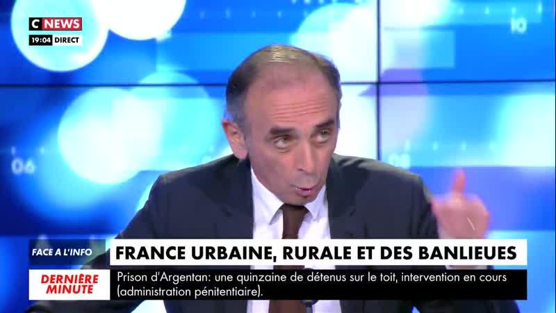 Éric Zemmour évoque des incidents à Nogent Sur Oise avec des personnes des africains qui font des barbecues