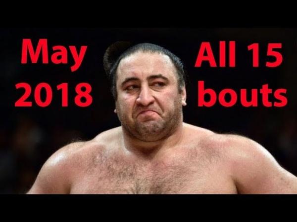 ტოჩინოშინის 15-ვე ბრძოლა მაისის ბაშოზე | Tochinoshin all 15 bouts on Natsu basho (May 2018)
