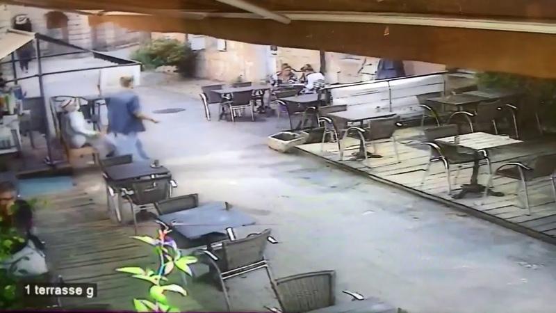 Images de la videosurveillance du restaurant victime du camion fou samedi dans la citadelle de Blaye