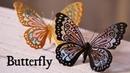 レジン×アクリル絵の具 蝶々のブローチ DIY Frosting with resin Butterfly brooch
