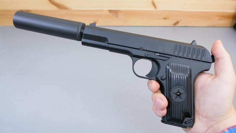 Страйкбольный пистолет Stalker SATTS ТТ глушитель видео обзор