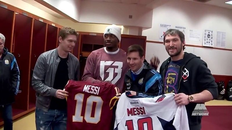 У Овечкина появился кумир Месси Встреча двух легенд Ovechkin and Kuznetsov Meet Messi