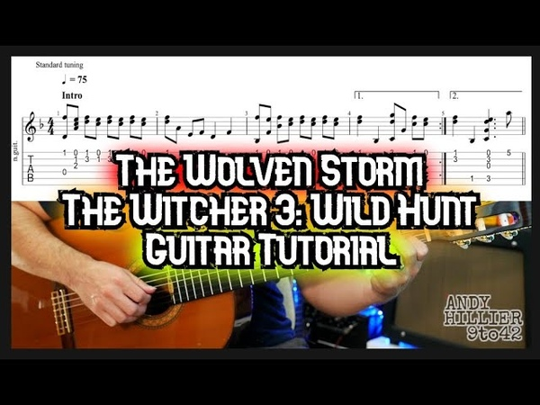 The Witcher 3 Wild Hunt The Wolven Storm Guitar Tutorial Lesson with TAB