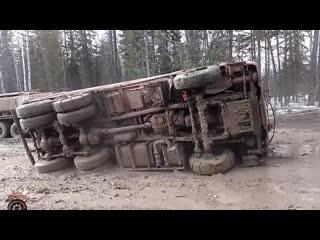 Мастерство и безбашенность водителей тяжелой техники на севере россии #6 great r () (1)