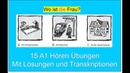 15 Hörverstehen Übungen A1 | 15 Listening Exercises Start Deutsch 1