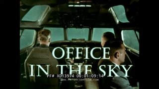 "1960's UNITED AIRLINES PILOT RECRUITMENT & TRAINING FILM ""OFFICE IN THE SKY"" DC-8 MAINLINER  XD13974"