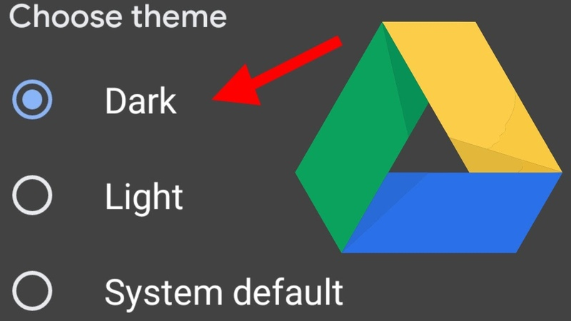 How to Enable Dark Theme Mode in Google Drive on Andriod