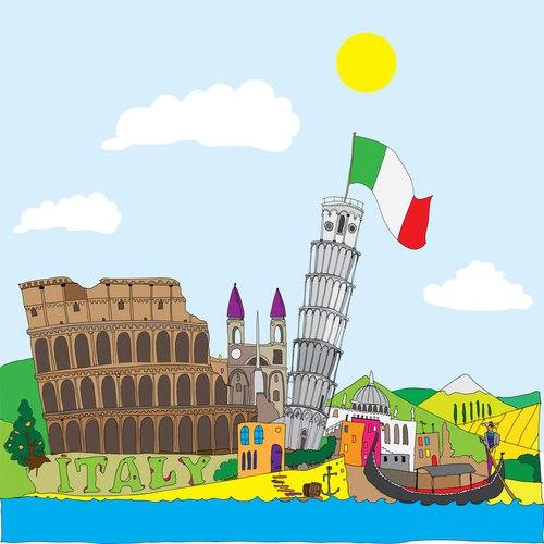 Картинки про италию для детей