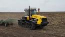 Гусеничный трактор Т-404 на обработке паров