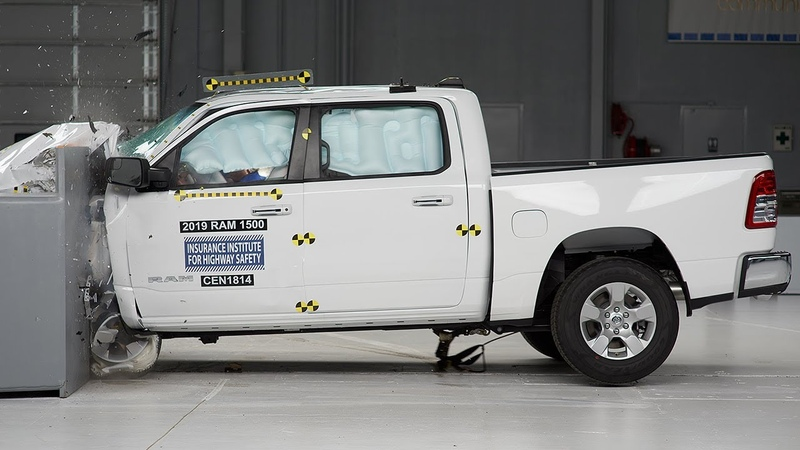 2019 Ram 1500 crew cab driver side small overlap IIHS crash test