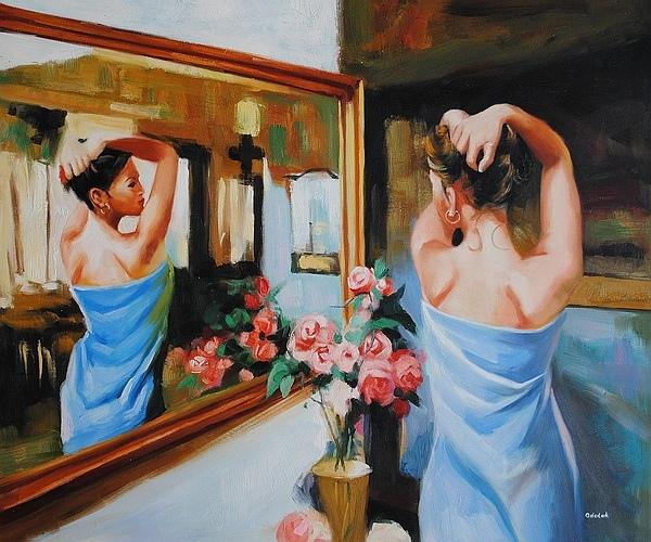 Уберите наклейки с надписью «Я хочу тебе нравиться» с Вашего лба, и разместите их там, где они действительно принесут пользу  на Ваше зеркало