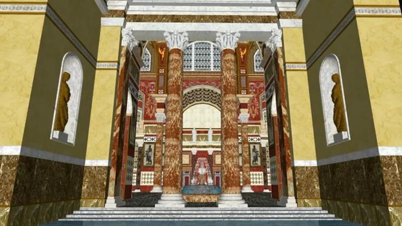 Рим восстановленный 04 Термы Каракаллы Rome recovered 04 Baths of Caracalla