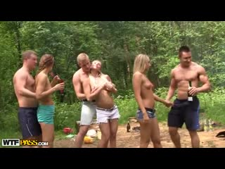 [PornoWold] [MyPickupGirls WTFPass] Gangbang на природе (Анал, Сквирт, шлюхи, со