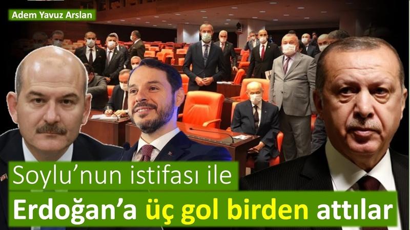 Erdoğan'a üç gol birden attılar Adem Yavuz Arslan