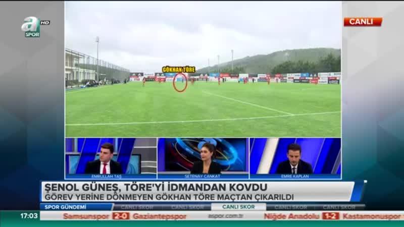 Beşiktaş idmanında Şenol Güneş Gökhan Töreyi maçtan kovdu