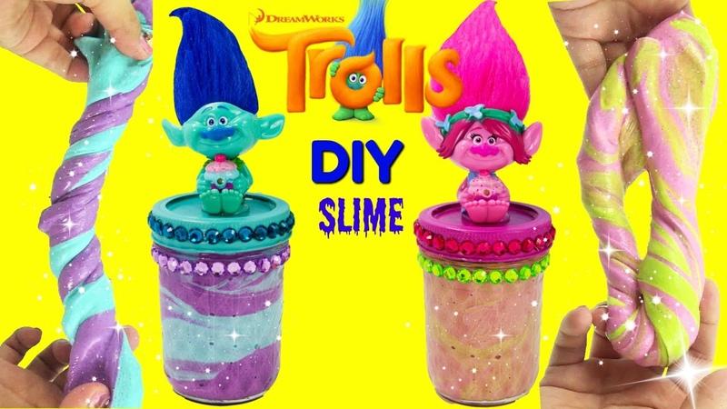 D.I.Y. DREAMWORKS TROLLS MOVIE Slime Poppy VS Branch Do It Yourself Glue Slime Recipe