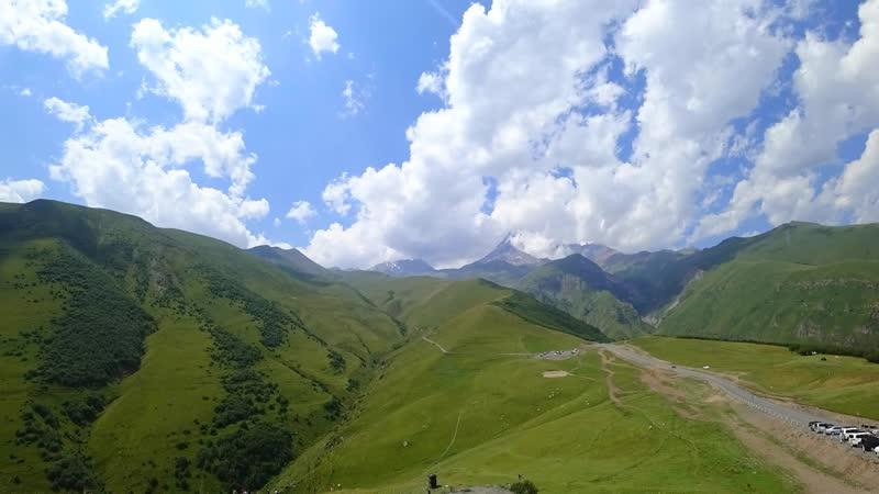Kazbek mountain timelapse