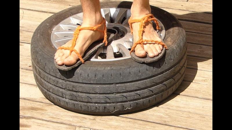 Ep 22 J'ai fait ma chaussure avec un pneu Michelin 1 2