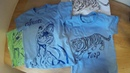 Рисунки на футболках с помощью маркеров.