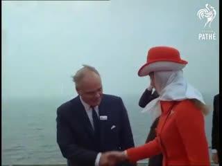 Princess anne visits gas rig (1969)