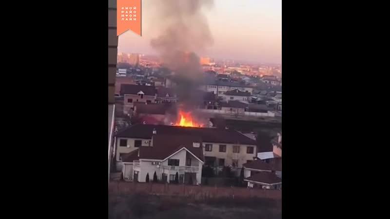 Пожар на улице Защитников Отечества.mp4