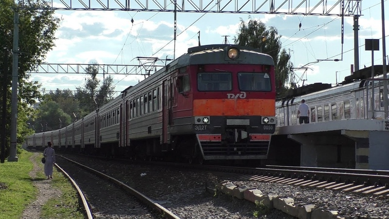 Электропоезд ЭД2Т-0050 платформа Станколит