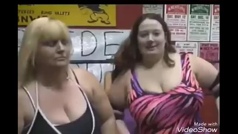 Two hot moms torturing girl in wrestling