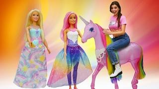 Классные видео для девочек - Новые куклы Barbie Dreamtopia! - Веселые игры в игрушки.