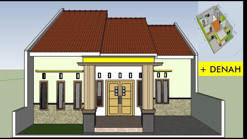 Contoh Inspirasi Desain Dan Denah Tata Ruang Rumah Modern Unik Minimalis Diatas Lahan 9 x 14