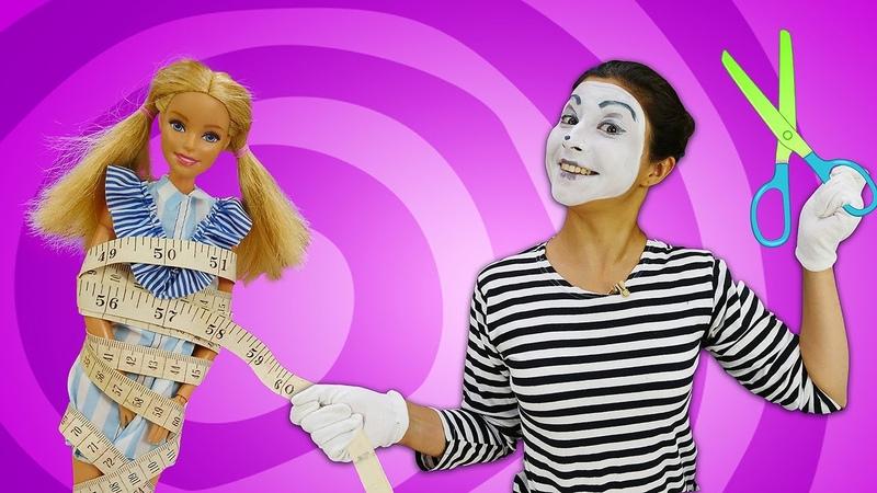 Видео про куклы. Новый образ для куклы Барби. Шьем наряды Барби! Игры в одевалки для девочек