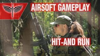 "Gameplay. Тактика ""УДАРЬ И БЕГИ"" в страйкболе. Airsoft Hit-and-Run"