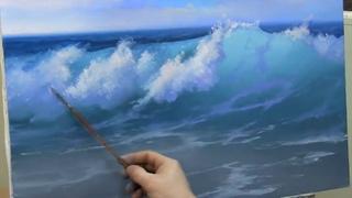 урок живописи маслом, как написать прозрачную волну. А Южаков +79857776200