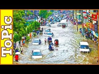 Мощное наводнение в городе Фенни, Бангладеш