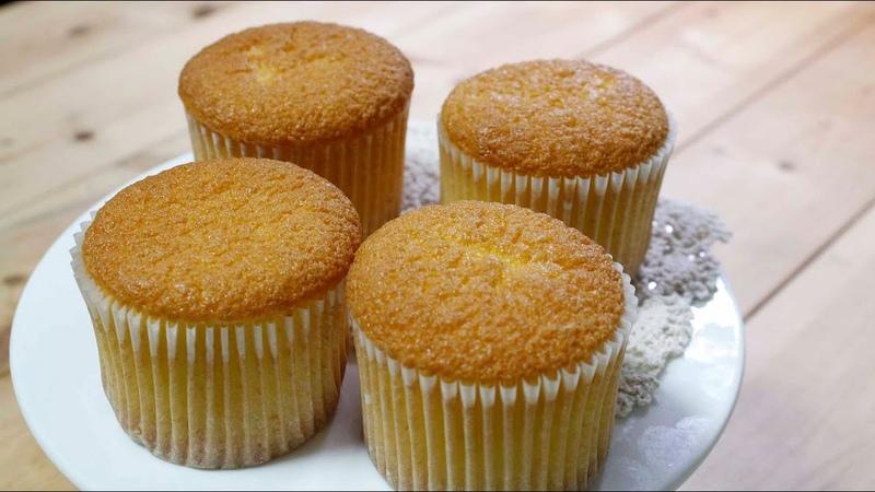 동네빵집의 카스테라컵케이크~ [시몬컵케익 케이크만들기]genoise cupcakes [그녀의베510