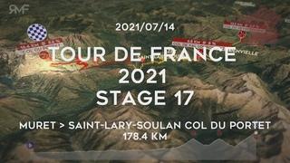 Tour de France 2021 - Stage 17/21 (Muret - Saint-Lary-Soulan Col du Portet) - Route (parcours)