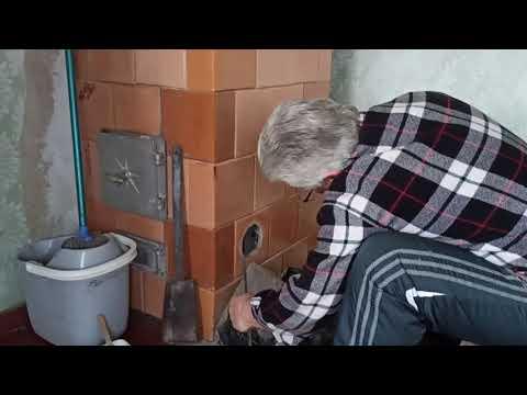 Как почистить дымоход в печи Чищу дымоходный канал в печи от сажи и пепла