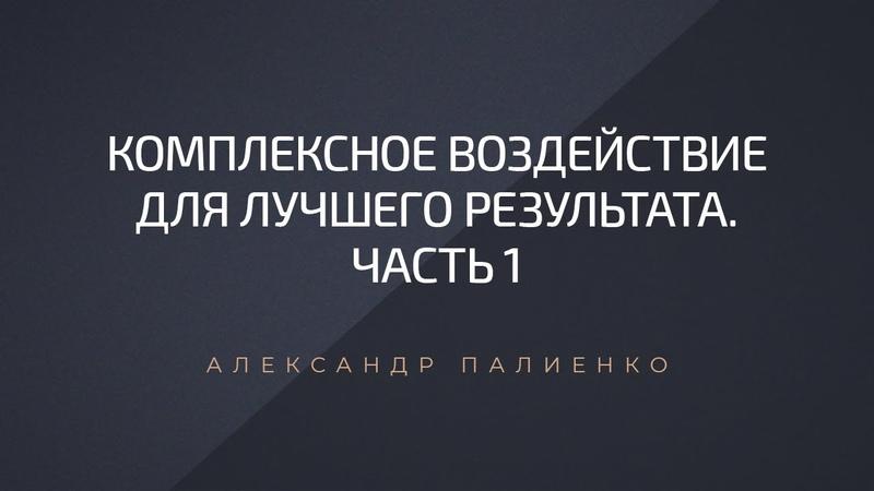 Комплексное воздействие для лучшего результата Часть 1 Александр Палиенко