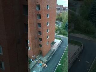 Уборка общих балконов АБ-22 силами УК Инновация
