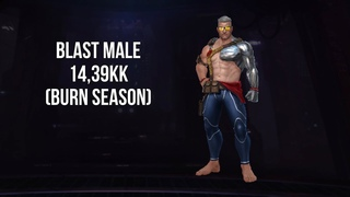 Cable Blast Male ABX 14,39 KK Burn Season/ Marvel Future Fight