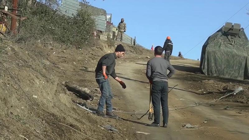 Տեղանքի ականազերծում և էլեկտրահաղորդալարերի վերականգնում Լեռնային Ղարաբաղում