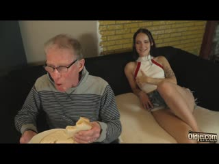 GRANDPA HARD DICK FUCKS TIGHT TEEN PUSSY AND CUMS IN HER MOUTH
