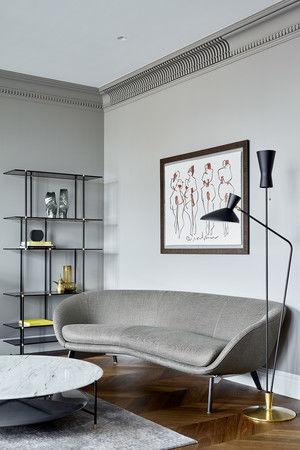 Московская квартира 300 м² с английским акцентом от студии Aiya Design || 01